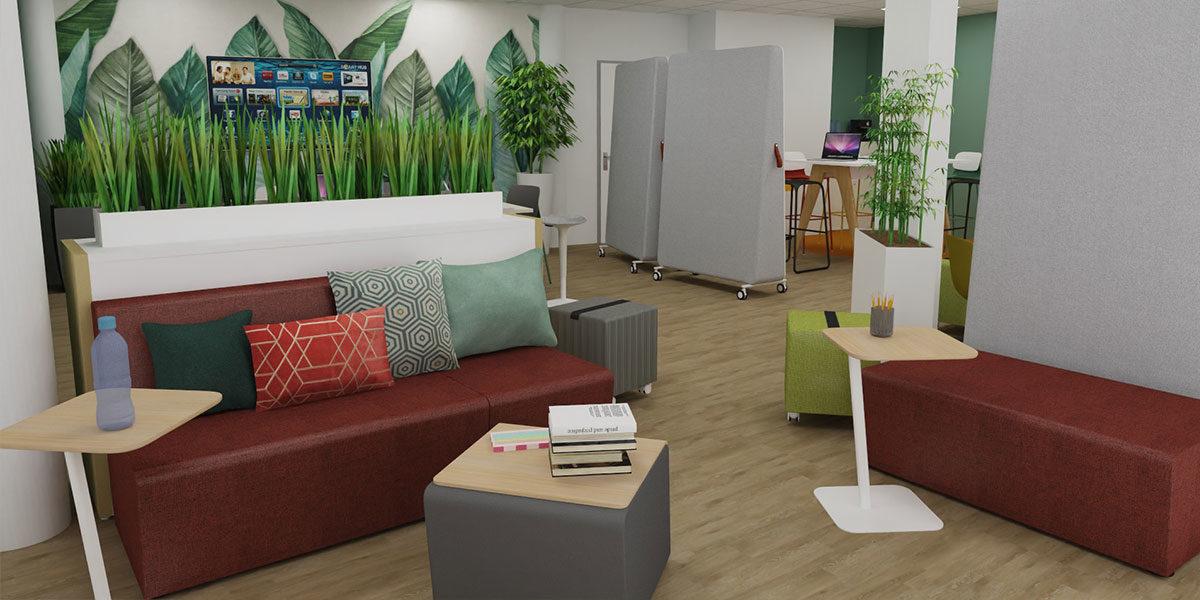 Bureau concept espace de travail créatif