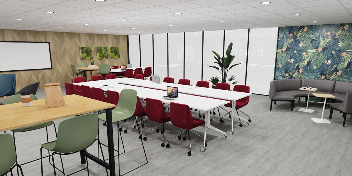 Bureau Concept salle de réunion informelle et formelle